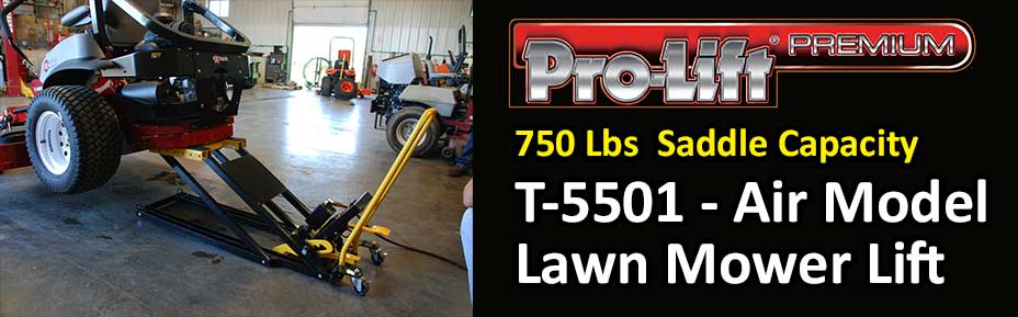 Prolift Premium 750 LB Salle Capacity T-5501 Air Powered Lawnmower Lift